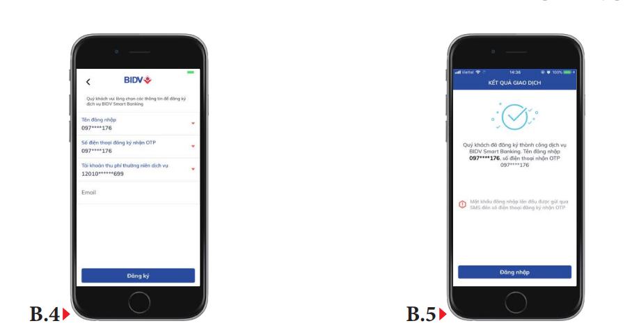 cách đặt mật khẩu bidv smart banking