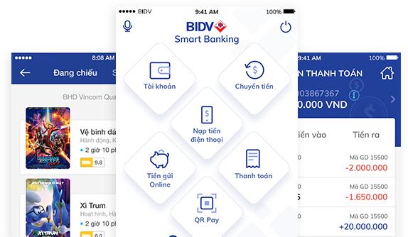 cach mo tai khoan smart banking bidv bi khoa