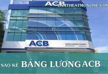 cach sao ke bang luong ngan hang acb online