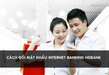 doi mat khau internet banking hdbank