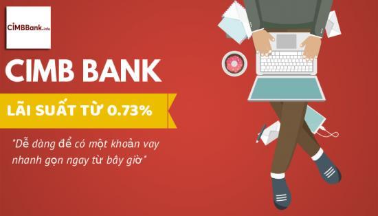 bảng lãi suất vay ngân hàng cimb bank