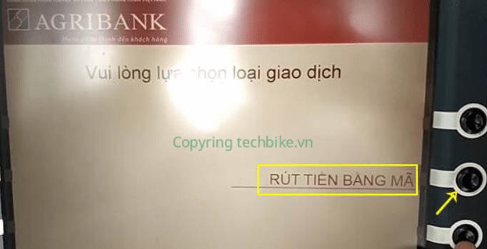 rut tien bang ma khong can the agribank