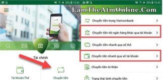 han muc chuyen tien mobile banking vietcombank