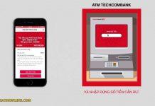 huong dan rut tien bang the atm techcombank