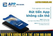 cach rut tien khong can the mb bank