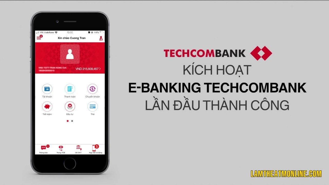 kich hoat the techcombank bang tin nhan