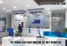Cach huy bankplus mbbank