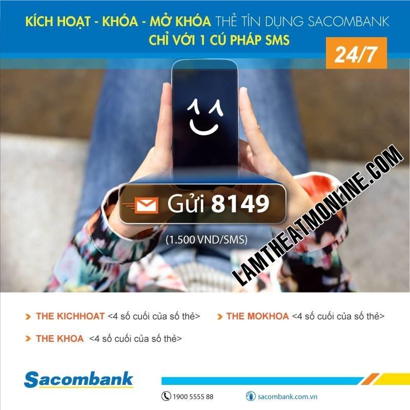 Cach kich hoat the sacombank