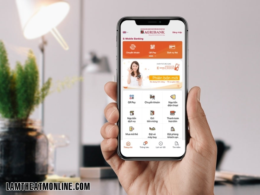Cach chuyen tien qua e-mobile banking agribank