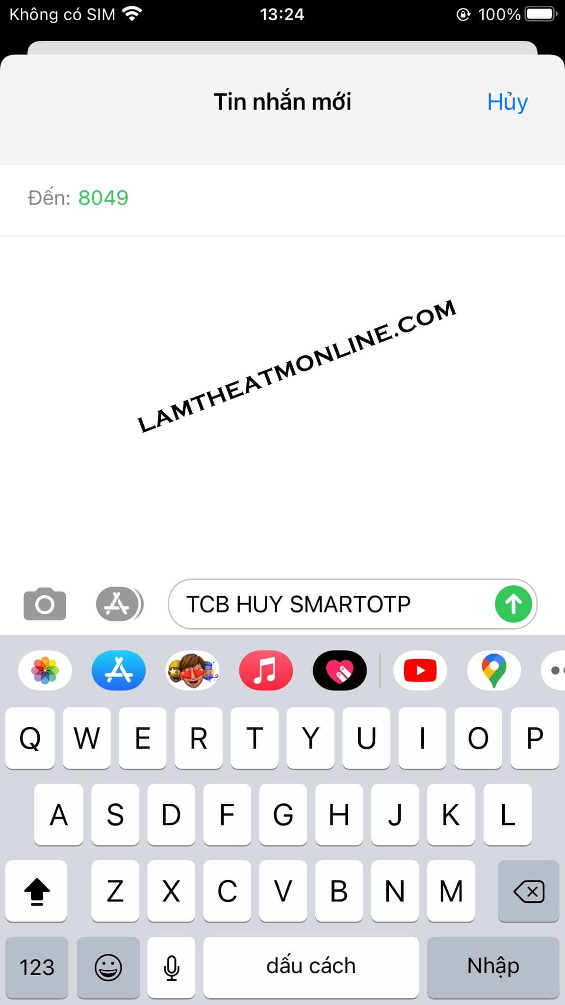 Cach huy smart otp techcombank