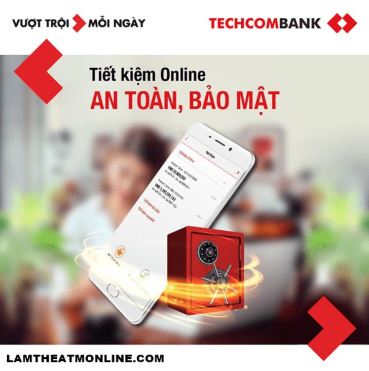 Gửi thêm tiền vào sổ tiết kiệm Techcombank